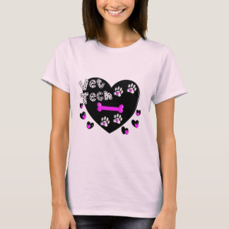 Vet Tech BLACK AND WHITE HEARTS T-Shirt