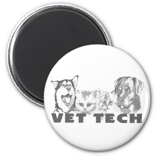 Vet Tech Fridge Magnet
