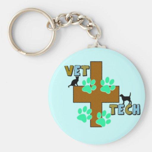 Vet Tech Gift Basic Round Button Keychain