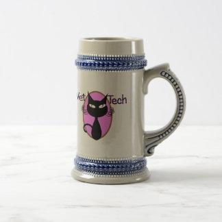 """Vet Tech Gifts  """"Adorable Cat Design"""" Beer Stein"""