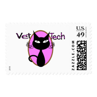 "Vet Tech Gifts  ""Adorable Cat Design"" Postage"