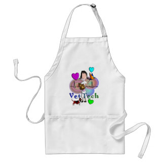 Vet Tech Gifts Unique Embossed Style Graphics Adult Apron