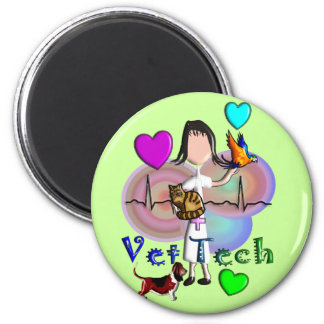 Vet Tech Gifts Unique Embossed Style Graphics Magnet