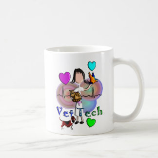 Vet Tech Gifts Unique Embossed Style Graphics Coffee Mugs