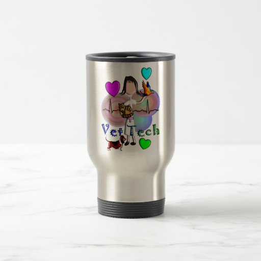 Vet Tech Gifts Unique Embossed Style Graphics Mugs