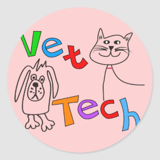Vet Tech Gifts, Veterinary Technician Classic Round Sticker