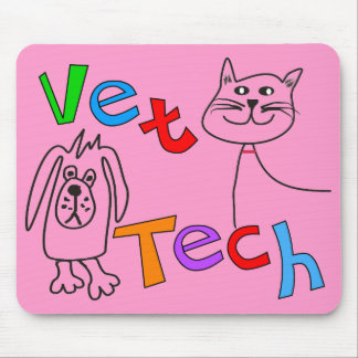 Vet Tech Gifts, Veterinary Technician Mouse Pad