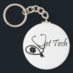"VET TECH KEYCHAIN<br><div class=""desc"">BY VETTECHSTUFF</div>"