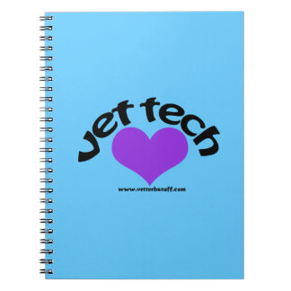 vet tech notebook blue