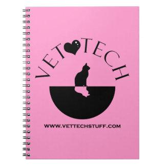 Vet Tech notebook Pink