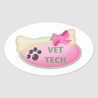Vet Tech Oval Sticker