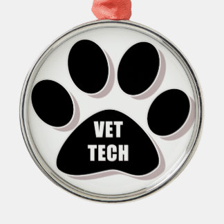 vet tech paw ornament