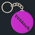 "vet tech paw shadow design keychain<br><div class=""desc"">For the pink lovers!</div>"