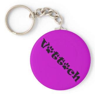 vet tech paw shadow design keychain