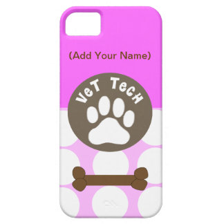 Vet Tech PInk Polka Dot iPhone 5 Case