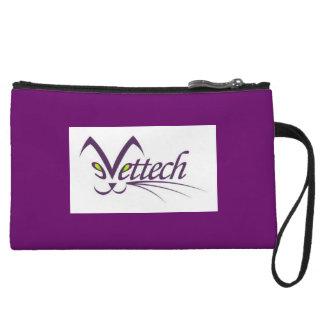 vet tech purple clutch wristlet purses