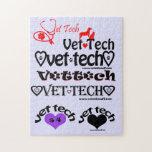 """vet tech puzzle gift<br><div class=""""desc"""">purple puzzle for vet techs</div>"""