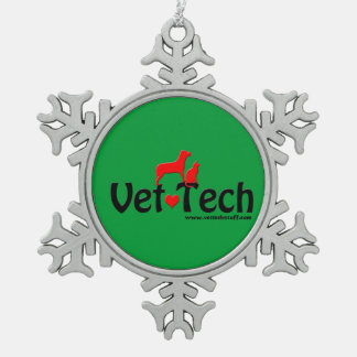 vet tech snowflake ornament