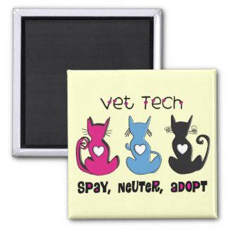 Vet Tech SPAY NEUTER ADOPT Black Cats Design Magnet