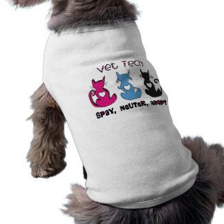Vet Tech SPAY NEUTER ADOPT Black Cats Design T-Shirt