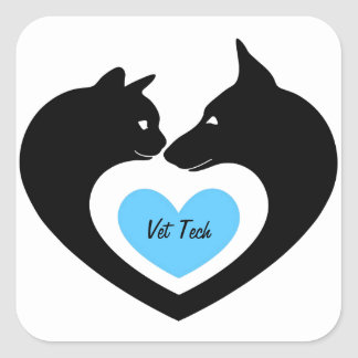 Vet Tech Square Sticker