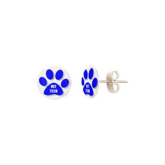 vet tech stud earrings