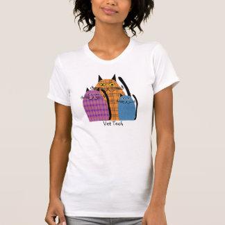 Vet Tech T-Shirt Folk Art Cats Design