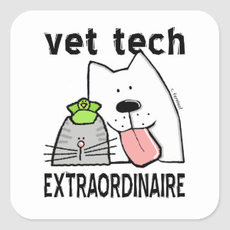 vet+tech vet+tech+gifts vet+tech+gear veterinary+t square sticker