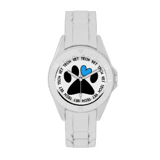 Vet Tech Watch Cat and Dog Paw Design