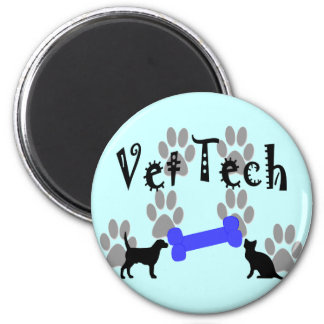 Vet TECH With Dog Bone Magnet