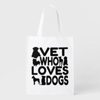 Vet Who Loves Dogs Grocery Bag
