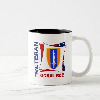 Veteran - 1st Sig Bde Two-Tone Coffee Mug