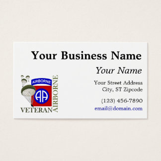 Veteran 82nd Airborne Business Card