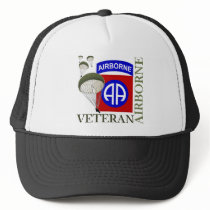 Veteran 82nd Airborne Trucker Hat