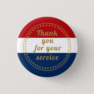 Veteran Active Duty Military Police Fire Thank You Button