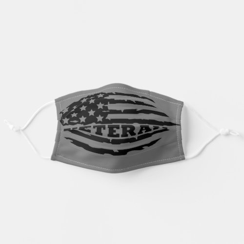 Veteran American Flag Adult Cloth Face Mask