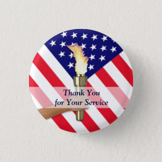 Veteran and Active Duty Military-Small Round Button