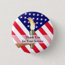 Veteran and Active Duty Military Thank You Button