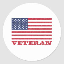 veteran classic round sticker