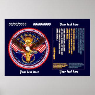 Veteran Customize Edit & Change background color Poster