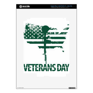 veteran dark green decal for iPad 3