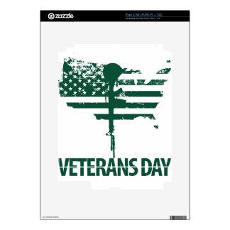 veteran dark green skins for iPad 2