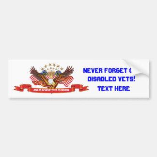 Veteran DAV Best viewed large Please view notes Bumper Sticker