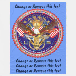 Veteran DAV Disabled American Veteran  View about Fleece Blanket