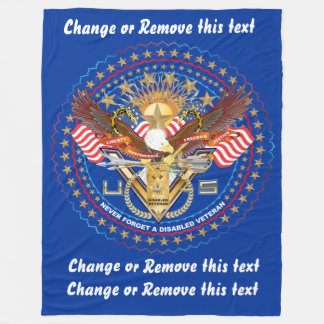 Veteran DAV Disabled American Veteran  View about Fleece Blanket