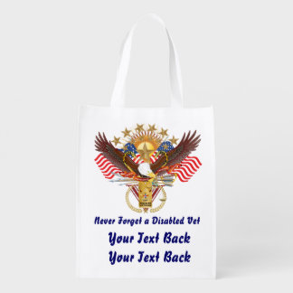 Veteran Disabled Add your Photo View About Design Reusable Grocery Bag