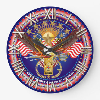Veteran Disabled View About Design One of a kind Wall Clocks