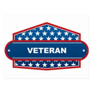 Veteran Emblem Postcard