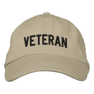 VETERAN EMBROIDERED BASEBALL HAT