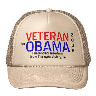 Veteran for Obama - Poltical Cap Trucker Hats